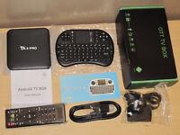 TV Box TX3 PRO 4K 8GB S905x Quad Core With FREE WIRELESS KEYBOARD