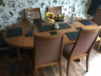 G Plan Dining Table, 6 Chairs (2 carvers) in need of some loving care