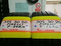 305 30 20 MATCHING PIRELLI P ZERO TYRES 8 MM TREAD X2 £150 INC BALNCE AND FITTING #OPEN 7 DAYS #