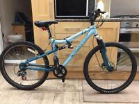 "Apollo fs26 mountain hybrid bike. 17"" frame. 26"" Wheels. Disk brake. Cheap working bike"