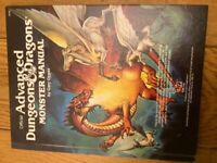 Official Dungeons & Dragons Monster Manual 1987 VG Condition