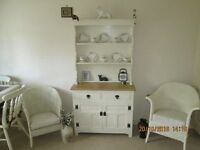 OLD CHARM OAK DRESSER PAINTED LAURA ASHLEY COUNTRY WHITE