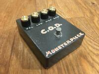 REDUCED Monsterpiece COD Coloursound Overdriver hand made guitar pedal - first ever one!