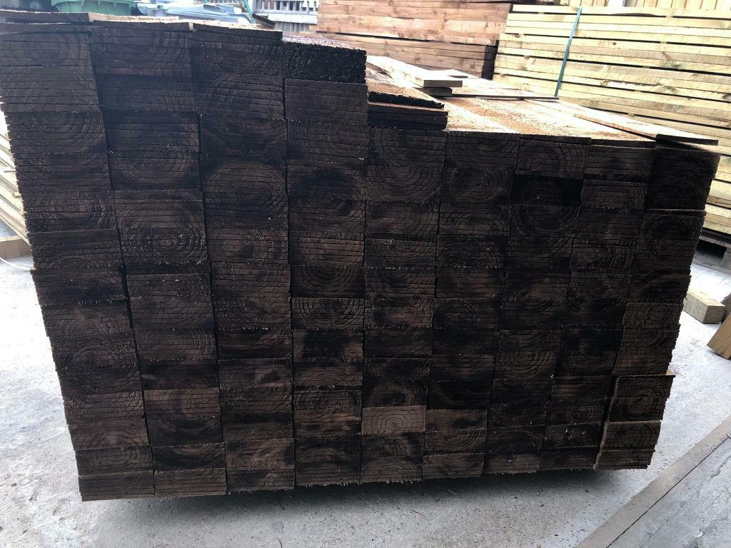 🌞 Brown Tanalised Wooden/ Timber Fencing Boards/ Pieces/ Panels