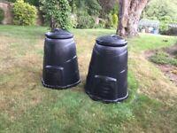 Blackwall 330 Litre Black Compost Converter x2. Good alternative to new brown garden waste bin fee.