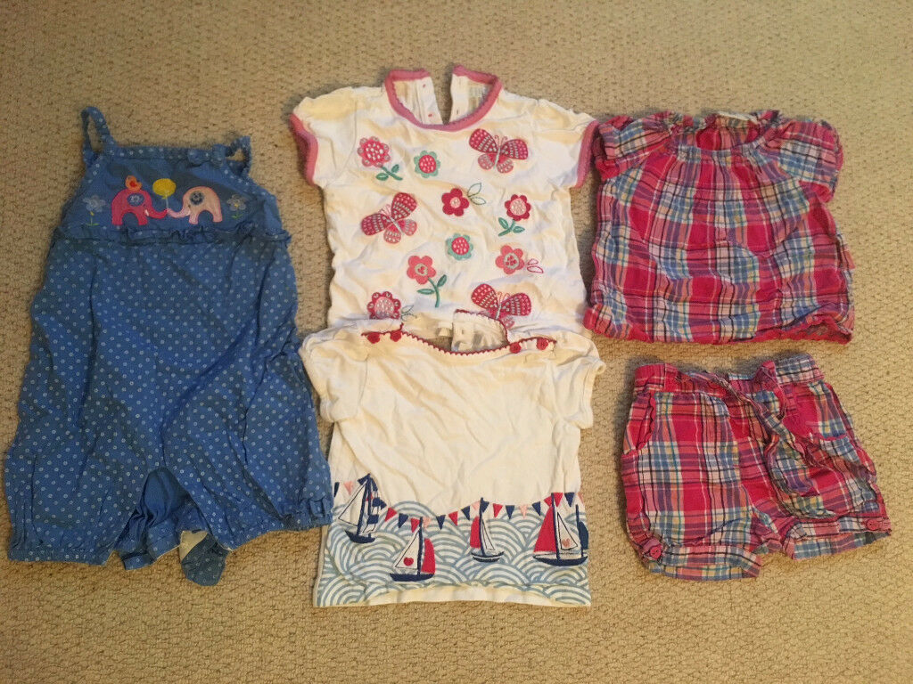 ef591fdddf2b Jojo Maman Bebe Girl Job Lot bundle 6-12 months spring summer outfits