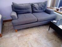 Grey 2 seater sofa.
