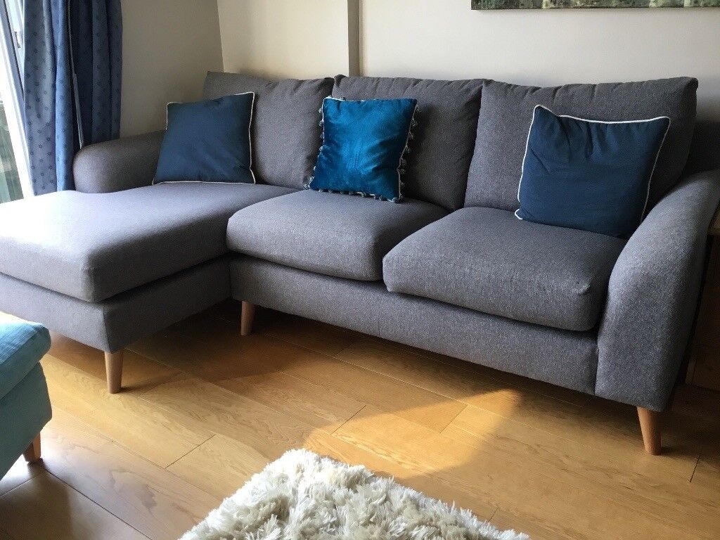 Next Astrid Grey Left Hand Corner Sofa