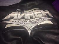 Real Avirex Leather Bomber Jacket RARE