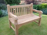 £395.00 New 4ft A Grade Teak Heavy Duty Memorial Garden Bench Fully assembled and delivered