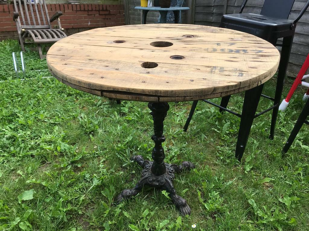 Fabulous up cycled wrought iron bistro garden tables ipswich