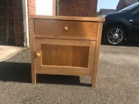 2 x bed side drawers