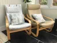 Ikea Poang rocking chairs