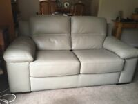 Pair of matching Sofology leather 2 seater sofas