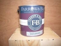 Farrow and Ball. 2.5 Lt can of Rectory Red Emulsion paint.