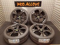 "17"" BK RACING ALLOY WHEELS NEW TYRES *REFURBED* 5x100 vw golf polo audi seat skoda"