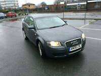 JUST ARRIVED AWAITING VALET 2008 AUDI A3 5 DOOR FAMILY CAR IN METALIC GREY 2.0 TDI 6 SPEED