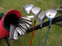Full set of Lady's Wilson Golf Clubs + Dunlop 10.5 MX Driver, Bag & Trolley