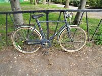 Large Frame Vintage Gents BSA Touring Bicycle. Fully Serviced, Ready To Ride & Guaranteed. 3 Speed