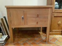 handmade solid oak sideboard