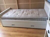 Single bed with trundle sleepover bed/storage drawer