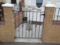 iron gate and fence open to offers i have had a offer £50 so far