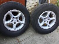 X2 Jeep Orvis wheels