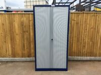 Tall Bisley tambour unit in blue