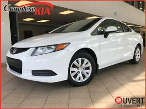 2012 Honda Civic LX A/C BLUETOOTH CRUISE 62549 SEULEMENT!!