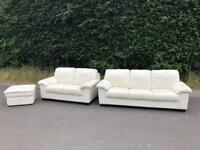 Leather 3 piece suite * free furniture delivery *