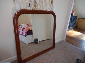 Wood framed mirror 90cm square. In Saltdean