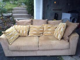 2seater sofa with cushions