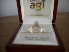 18CT Solitaire Diamond Ring