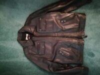Men's Schott Leather Biker Jacket