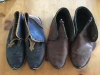 Two pair of Turkish hand made leather shoes size 9