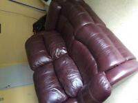 Beautiful Dual Reclining Leather Couch