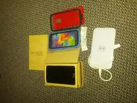 samsung s5 two cases and charging pad 300 firm