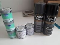 Bundle of upcycling paint rustoleum chalk paint spray etc