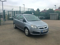 2006 VAUXHALL ZAFIRA 1.6, 7 SEATER MPV, PETROL, MOT, EXCELLENT CONDITION