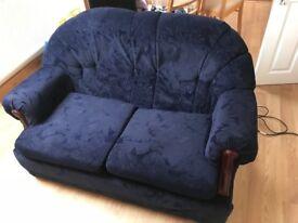 Stylish blue sofa