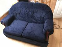 Stylish blue sofa