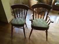 Wood Pine 6 Chair Set -