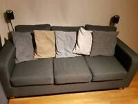 2 and 3 Seat Fabric Sofas - As New Condition, less than a year old