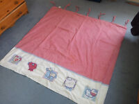 Childrens nursery curtains with blackout lining and tie backs (from Next)