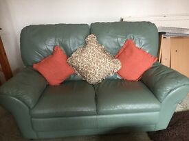 2 X 2 GREEN SEATERS AND AN ARMCHAIR FOR SALE