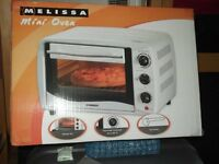 MELISSA mini oven (Brand new/ Boxed) 16L capacity, 60 mints cooking time, up to 250C baking . £30.00