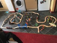 WOODEN BRIO TRAIN TRACK SET...150+PIECES inc PLASTIC MOUNTAIN & LOTS MORE
