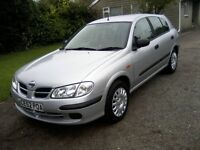 NISSAN ALMERA 1-5 S 16v 5-DOOR 2002 (52 PLATE). 100,000 MILES WITH VAST SERVICE HISTORY.