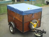 trailer 5x3ft two high compartment trailer.