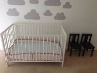FREE baby cot and 2 chairs